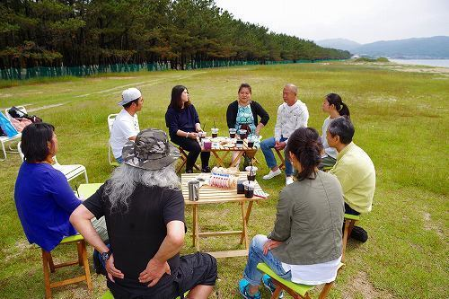 We taste immigrant exchange meeting - living and visit seaside picnic ~& immigrant♪